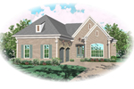 Traditional House Plan Front of Home - 087D-0898 | House Plans and More