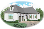 European House Plan Front of Home - 087D-0901 | House Plans and More
