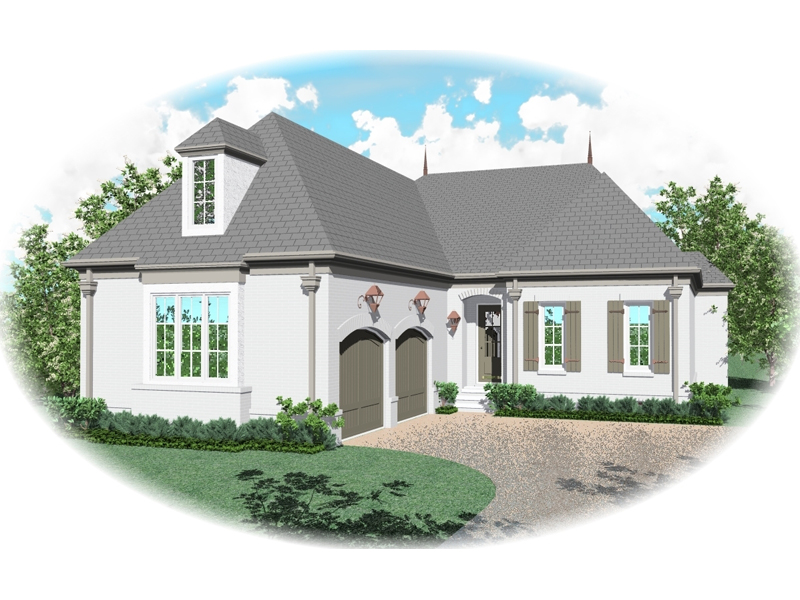 European House Plan Front of Home - 087D-0902 | House Plans and More