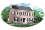 Early American House Plan Front of Home - 087D-0904 | House Plans and More