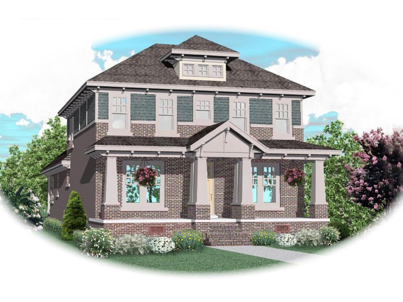 Arts & Crafts House Plan Front of Home - 087D-0906 | House Plans and More