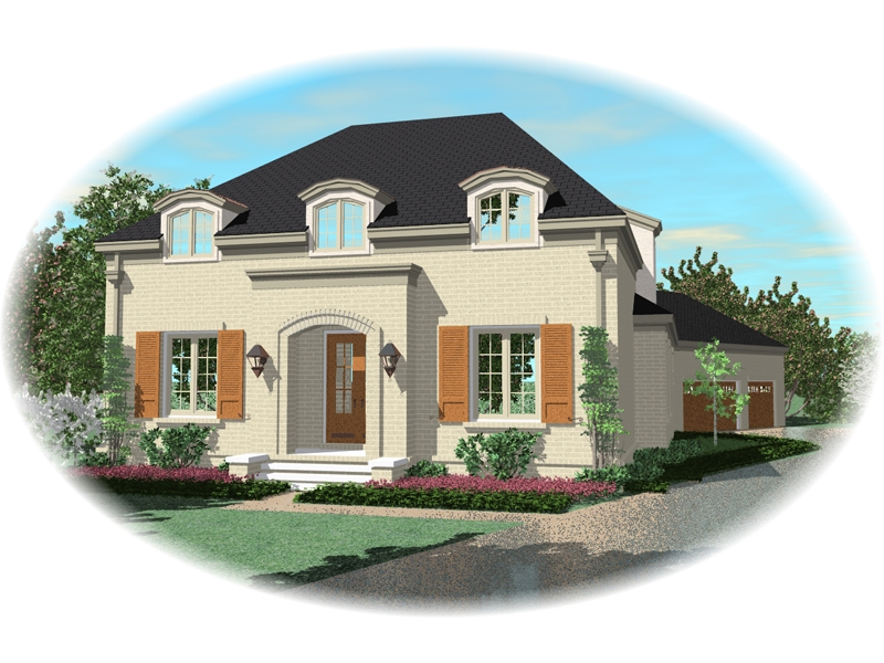 European House Plan Front of Home - 087D-0908 | House Plans and More