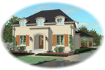 Adobe and Southwestern Plan Front of Home - 087D-0908 | House Plans and More