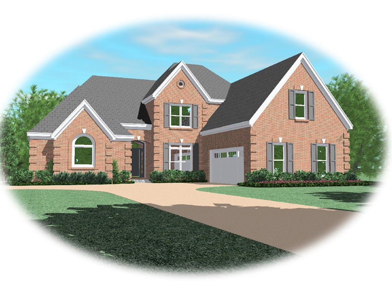 Traditional House Plan Front of Home - 087D-0910 | House Plans and More