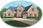 Colonial Floor Plan Front of Home - 087D-0910 | House Plans and More