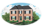 Colonial Floor Plan Front of Home - 087D-0911 | House Plans and More