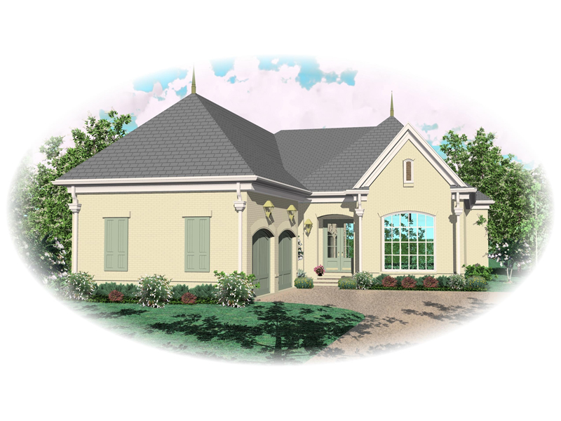 Traditional House Plan Front of Home - 087D-0913 | House Plans and More
