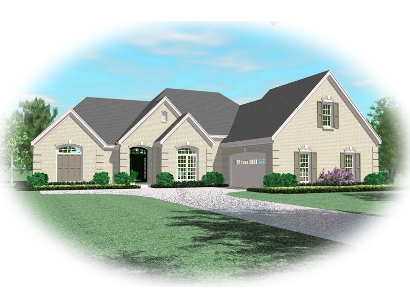 European House Plan Front of Home - 087D-0920 | House Plans and More