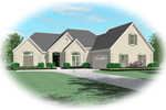 Colonial House Plan Front of Home - 087D-0920 | House Plans and More