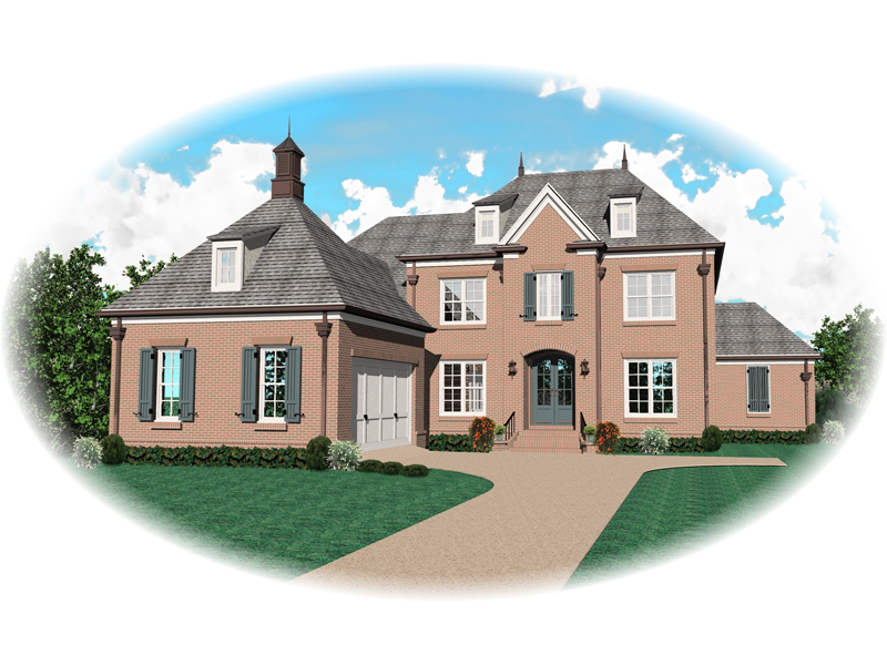 Colonial House Plan Front of Home - 087D-0931 | House Plans and More