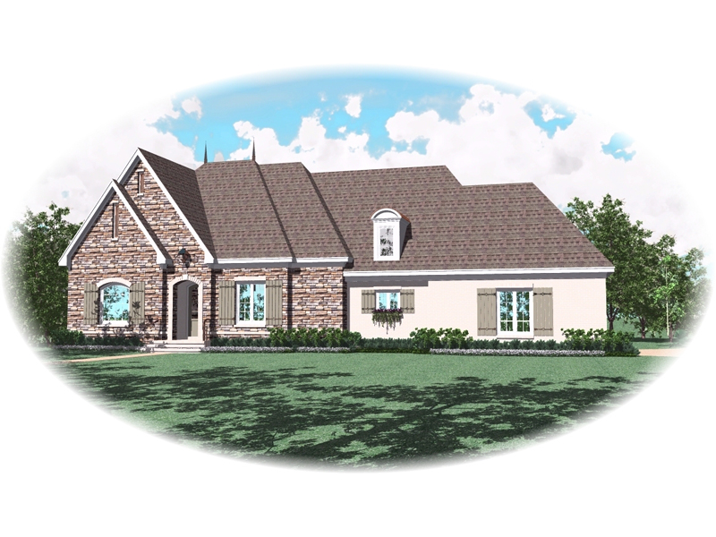 Traditional House Plan Front of Home - 087D-0933 | House Plans and More