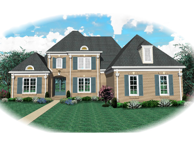 Colonial House Plan Front of Home - 087D-0938 | House Plans and More