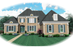 European House Plan Front of Home - 087D-0938 | House Plans and More