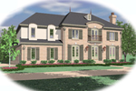 European House Plan Front of Home - 087D-0952 | House Plans and More