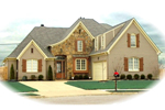 Country French Home Plan Front of Home - 087D-0953 | House Plans and More