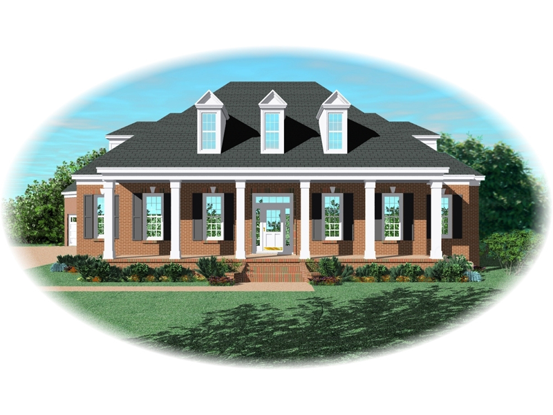 Southern Plantation Plan Front of Home - 087D-0954 | House Plans and More