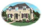 European House Plan Front of Home - 087D-0958 | House Plans and More