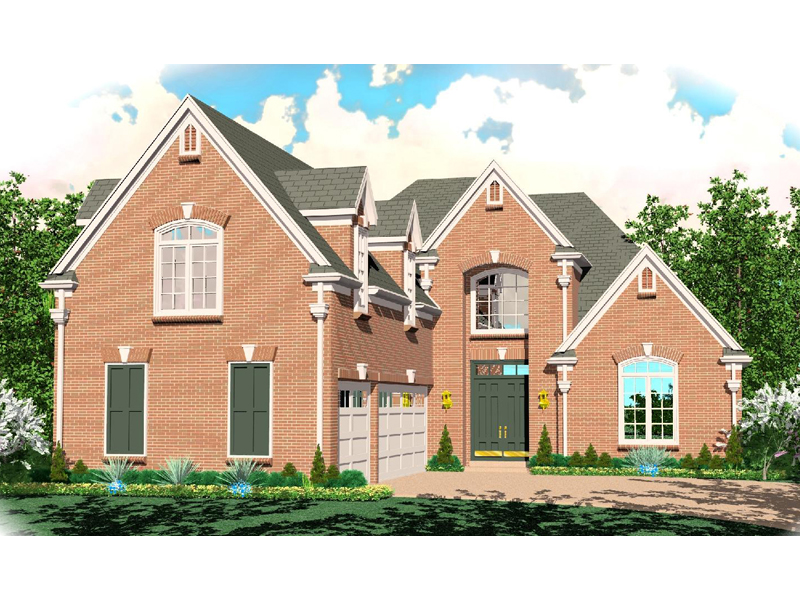 Country French Home Plan Front of Home - 087D-0961 | House Plans and More