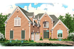 European House Plan Front of Home - 087D-0961 | House Plans and More