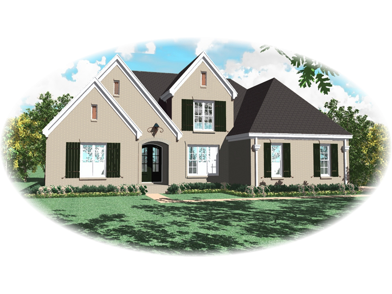 Country French Home Plan Front of Home - 087D-0964 | House Plans and More