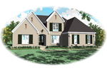 Country French House Plan Front of Home - 087D-0964 | House Plans and More