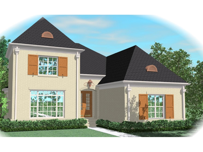 Colonial Floor Plan Front of Home - 087D-0977 | House Plans and More