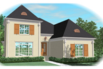 Traditional House Plan Front of Home - 087D-0977 | House Plans and More