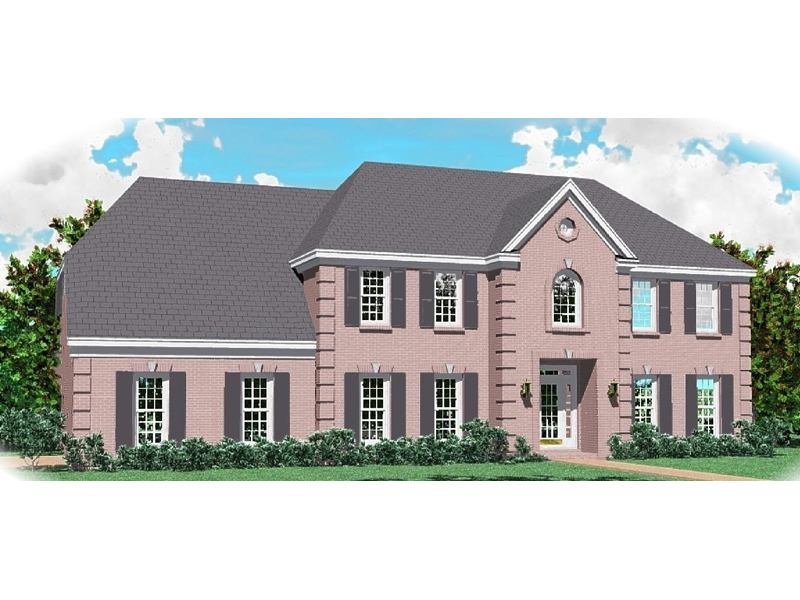 Colonial Floor Plan Front of Home - 087D-0979 | House Plans and More