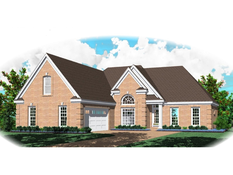 Neoclassical Home Plan Front of Home - 087D-0981 | House Plans and More