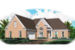 Traditional House Plan Front of Home - 087D-0981 | House Plans and More