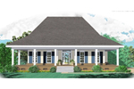 Ranch House Plan Front of Home - 087D-0989 | House Plans and More