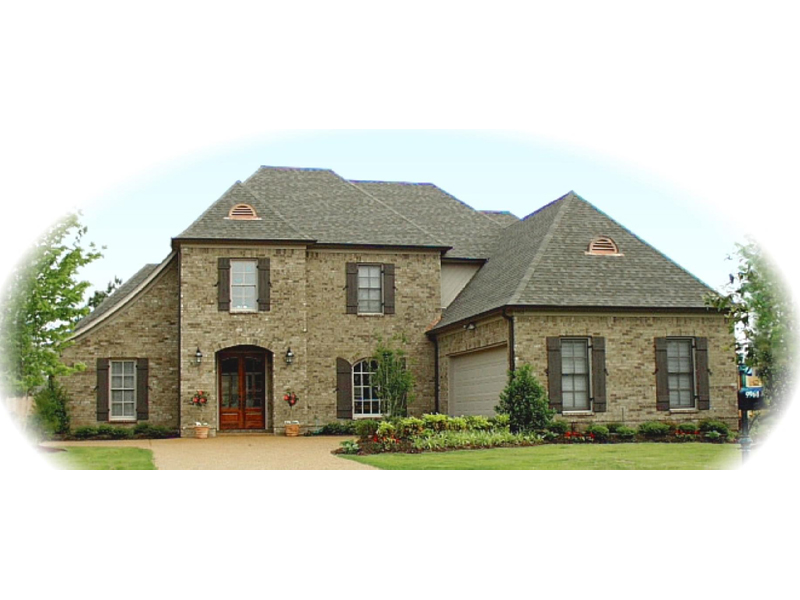 Country French Home Plan Front of Home - 087D-0991 | House Plans and More