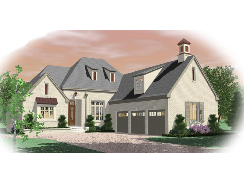 English Cottage House Plan Front of Home - 087D-0995 | House Plans and More