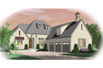 European House Plan Front of Home - 087D-0995 | House Plans and More
