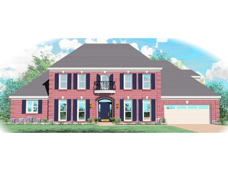 Traditional House Plan Front of Home - 087D-0998 | House Plans and More