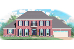 Georgian House Plan Front of Home - 087D-0998 | House Plans and More