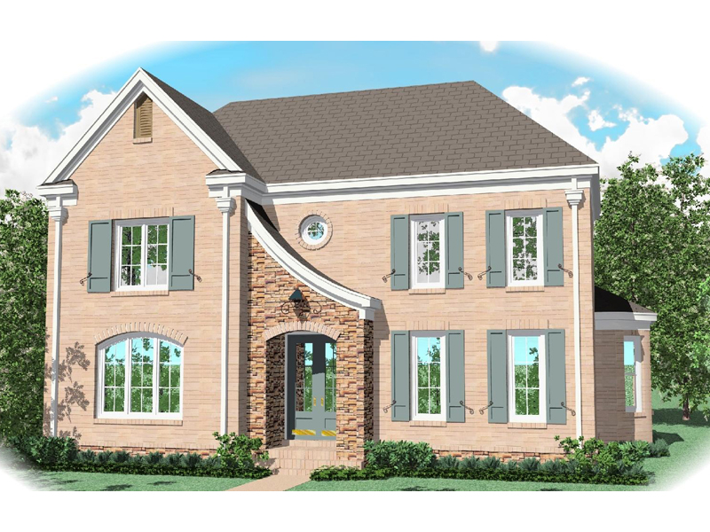 Colonial Floor Plan Front of Home - 087D-0999 | House Plans and More
