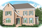 Colonial House Plan Front of Home - 087D-0999 | House Plans and More