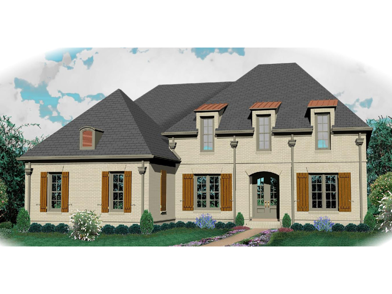 Country French Home Plan Front of Home - 087D-1007 | House Plans and More