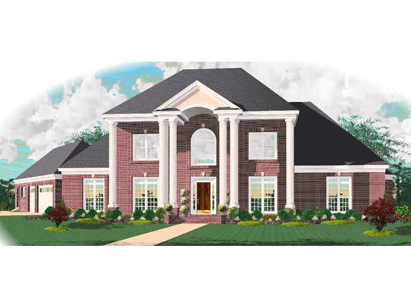 Greek Revival House Plan Front of Home - 087D-1010 | House Plans and More