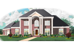 Greek Revival Home Plan Front of Home - 087D-1010 | House Plans and More