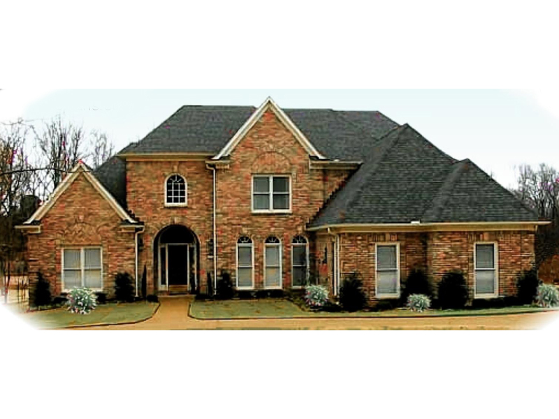 European House Plan Front of Home 087D-1015