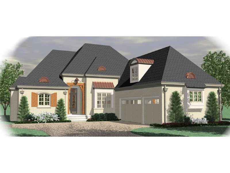 European House Plan Front of Home - 087D-1027 | House Plans and More