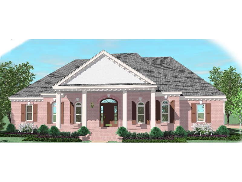 Traditional House Plan Front of Home - 087D-1030 | House Plans and More