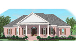 Southern Plantation Plan Front of Home - 087D-1030 | House Plans and More