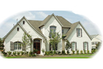 European House Plan Front of Home - 087D-1035 | House Plans and More