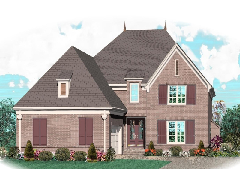 Luxury House Plan Front of Home - 087D-1038 | House Plans and More