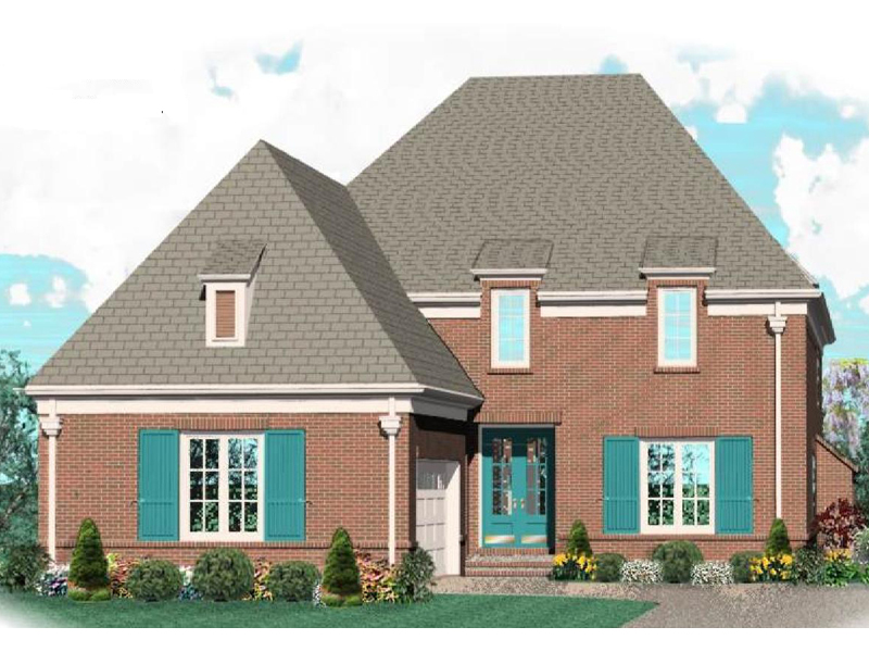 Country House Plan Front of Home - 087D-1041 | House Plans and More