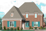 European House Plan Front of Home - 087D-1041 | House Plans and More