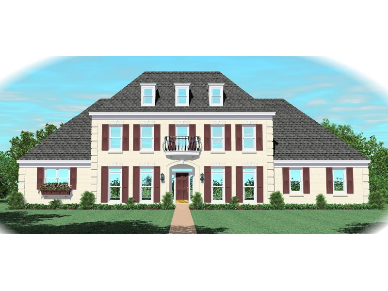 Colonial Floor Plan Front of Home - 087D-1046 | House Plans and More